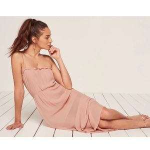 the reformation pink ballet midi / maxi dress